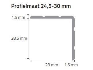 Profielmaat 24,5/30mm