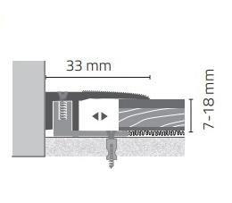 Hoogte 7-18mm